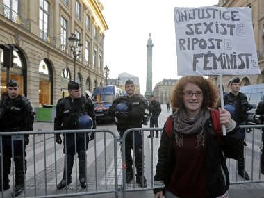 File image of a feminist protest in Paris. Reuters