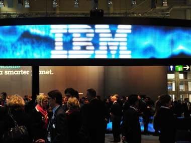 IBM logo. AFP