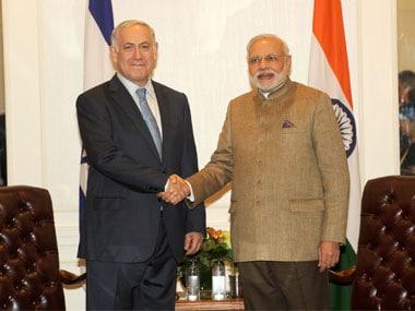 Israeli Prime Minister Benjamin Netanyahu and Prime Minister Narendra Modi. Image courtesy PIB