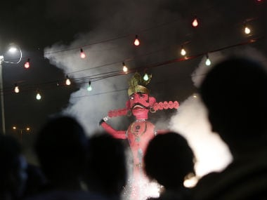 A ravana goes up in flames in this file photo. Reuters