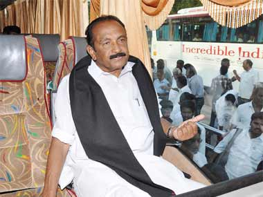 Vaiko has alleged that BJP is against Tamils. Firstpost