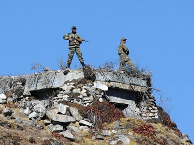 File image of Indian soldiers patrolling the Arunachal border. AFP