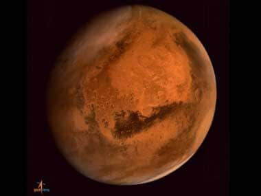 An image of Mars sent by Mangalyaan. PTI