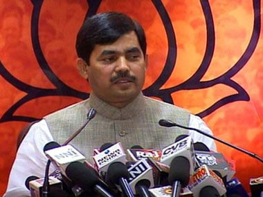 File image of Shahnawaz Hussain. News18