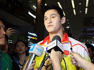 Olympic and world champion swimmer Sun served a three-month ban earlier this year after testing positive for a banned stimulant. AP