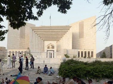 File image of Pakistan Supreme Court. AFP.