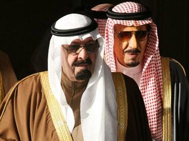 File photo of King Abdullah bin Abdul Aziz  and Prince Salman bin Abdul Aziz al-Saud. AFP