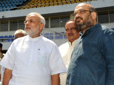 PM Modi and BJP vice president AMit SHah addressed a meeting of all chief ministers from the BJP-ruled states. AFP