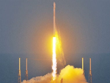 An unmanned Falcon 9 SpaceX rocket lifts off from launch complex 40 at the Cape Canaveral Air Force Station. AP