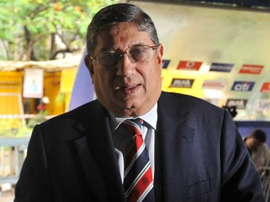 File photo of N Srinivasan. AFP