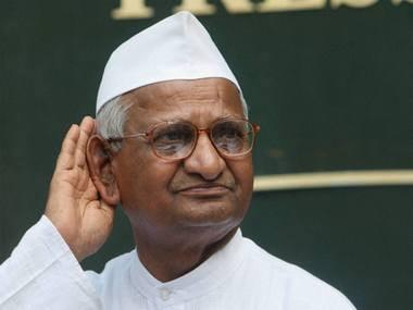 Social activist Anna Hazare. PTI