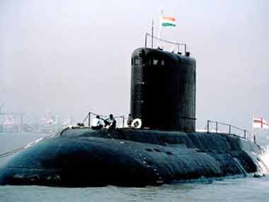 An Indian Navy submarine. Ibnlive