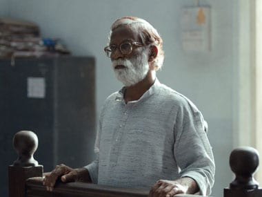 Vira Sathidar, who plays Narayan Kamble, in a still from Court. Image Courtesy: Facebook