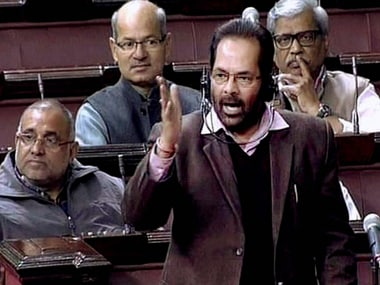 Union Minister for Minority Affairs Mukhtar Abbas Naqvi. PTI