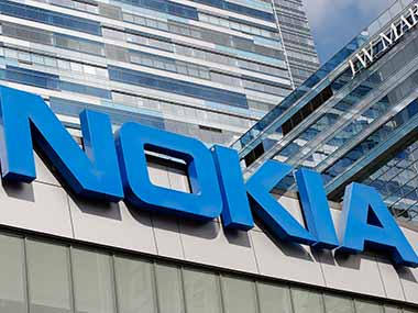 The Nokia logo. Reuters