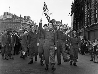 Britain celebrates VE day in wake of surprising election
