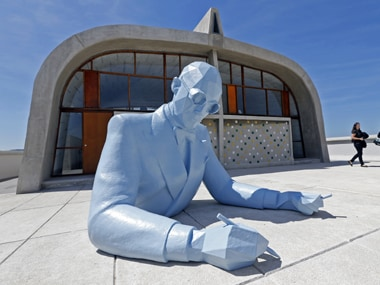 Sculpture of 'Le Corbusier by a French artist in Marseille. Reuters