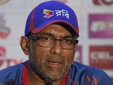 File picture of Bangladesh cricket coach Chandika Hathurusingha. AFP