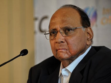 File picture of Sharad Pawar. AFP