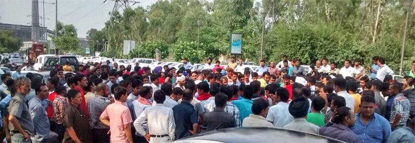 Driver protest in Delhi