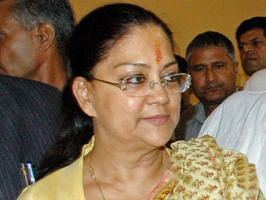 Banned from Anandpur, told to stay quiet: BJP puts Vasundhara Raje in the dog house