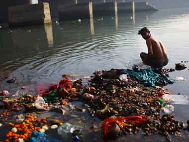 Yamuna River. AFP