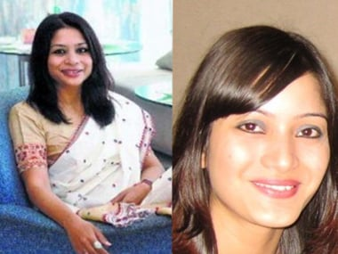Indrani Mukerjea (left) and Sheena Bora (right)