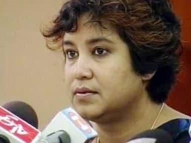 File image of Taslima Nasreen. PTI