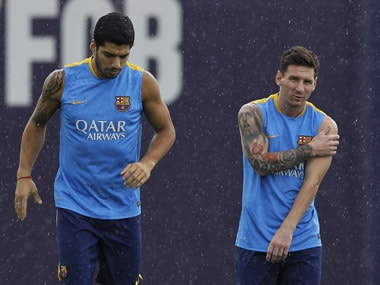 Lionel Messi and Luis Suarez will carry all of Barcelona's expectations this season.AP