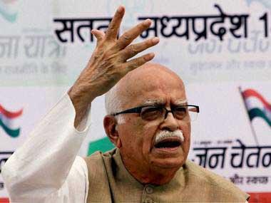 File photo of LK Advani. Image courtesy: PTI