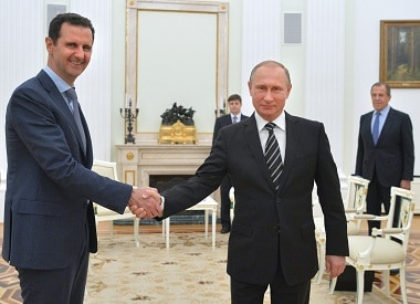 File image of Russian President Vladimir Putin with his Syrian counterpart Bashar al-Assad. AFP