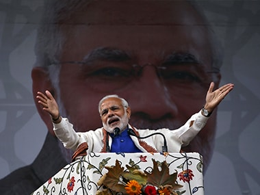 File picture of Prime Minister Narendra Modi in Srinagar. Reuters