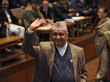 File photo of Nepal's Prime Minister KP Sharma Oli. AFP