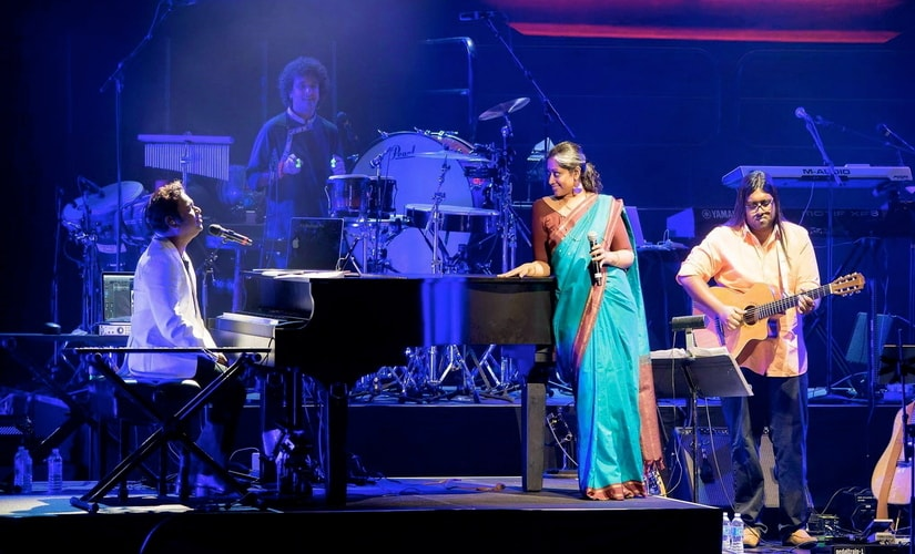 Annette Philip and A R Rahman at Berklee Music School/ Pic courtesy Annette Philip