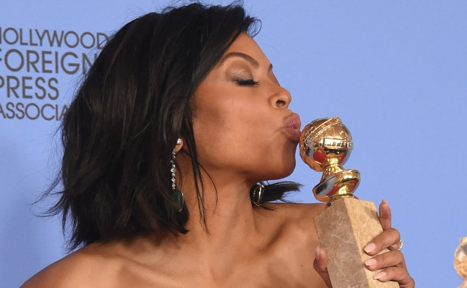 "Taraji P. Henson won the award for Best Actress in a TV Series Drama for her role in ""Empire. AFP"