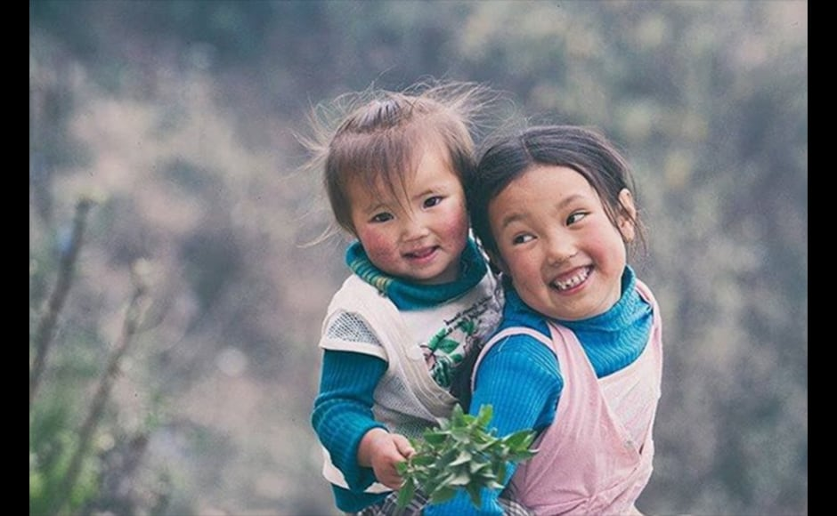 Drawn by the sheer beauty and the innocent smiles of the children, Praveen Chetri, a 27-year-old freelance photographer, shot this image on his way to Lava, a small tourist destination in Kalimpong.