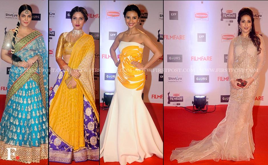 Bright hues: Ankita Shorey, Bhoomi Pednekar, Patralekha, Krishika Lulla.Firstpost/Sachin Gokhale