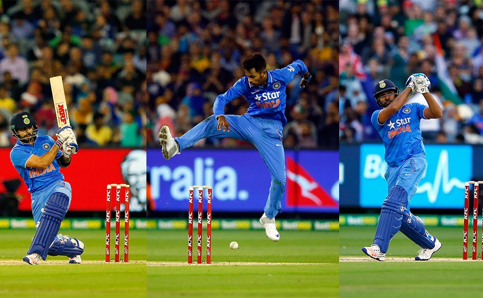 Moments from the second T20I against Australia in Mlebourne. It was an all-round performance from the boys. Getty Images