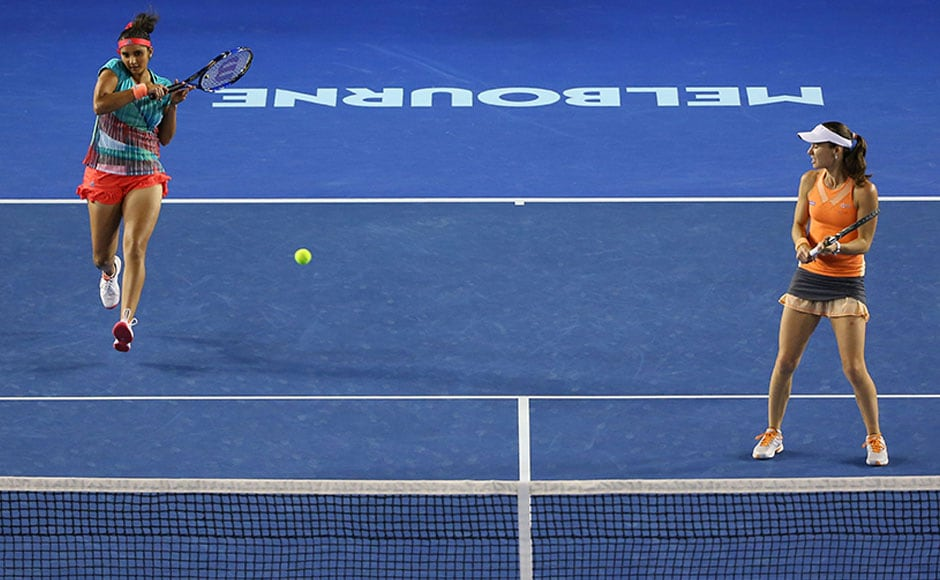 No stopping the the duo. Sania and Martina have now won 36 games on the trot. Getty Images