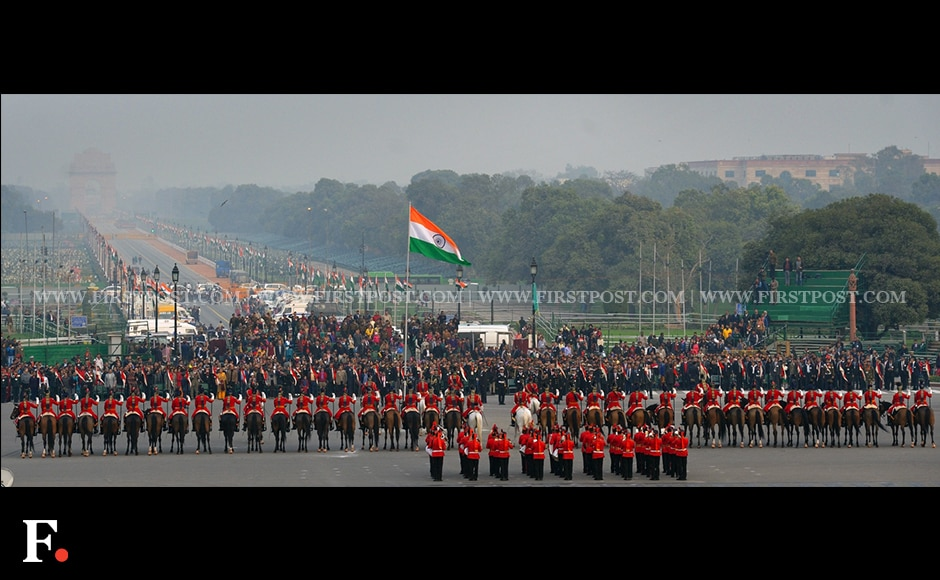 Full dress rehearsal for the Beating Retreat ceremony in New Delhi. Firstpost/Naresh Sharma