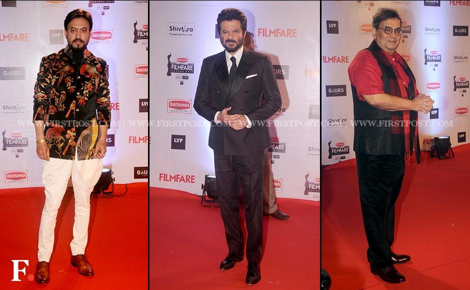 Swag Kings:Irrfan Khan, Anil Kapoor, and Subhash Ghai.Firstpost/Sachin Gokhale