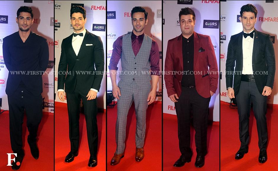 Suit up! Pratiek Babbar, Sooraj Pancholi, Pulkit Samrat, Varun Sharma, Girish Kumar.Firstpost/Sachin Gokhale