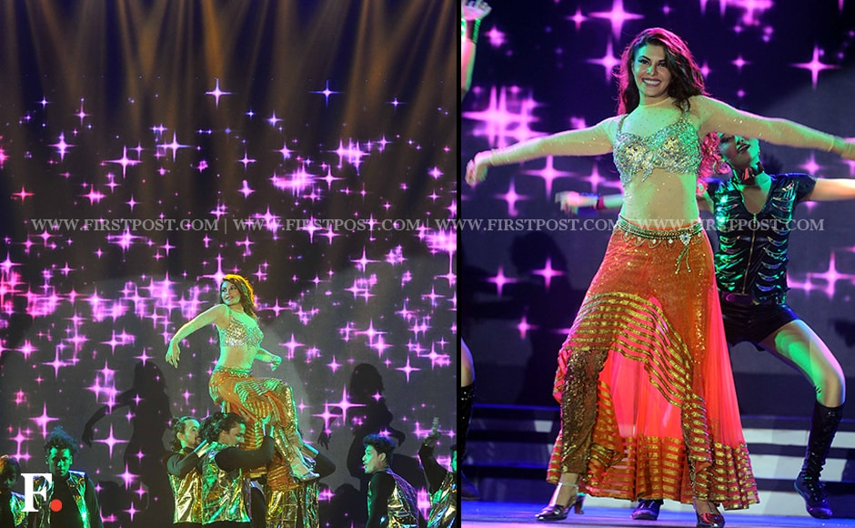 Jacqueline Fernandez heats up the proceedings with her dance. Firstpost/Sachin Gokhale