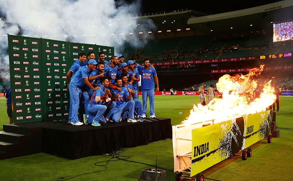 The team was a mixture of experienced and young talent and now looks like a stable combination for the World T20s. Getty