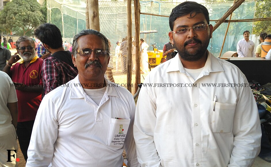 The umpires who did the arduous and repetitive job of calling fours and sixes during the match. Jigar Mehta/Firstpost