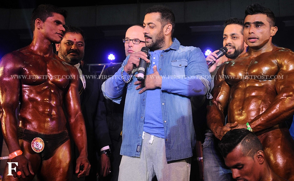Salman Khan interacts with participants of the competition. Firstpost/Sachin Gokhale