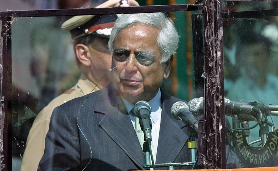 Chief Minister of Jammu and Kashmir Mufti Mohammad Syed was a patriot of steely resolve. Here, he speaks during Independence Day celebrations in Srinagar in 2005.  A grenade had exploded near a stadium in Indian Kashmir's main city of Srinagar on Monday before the start of a ceremony to mark India's independence anniversary. The grenade went off an hour before Syed was due to attend the independence celebrations at the heavily guarded stadium. Reuters