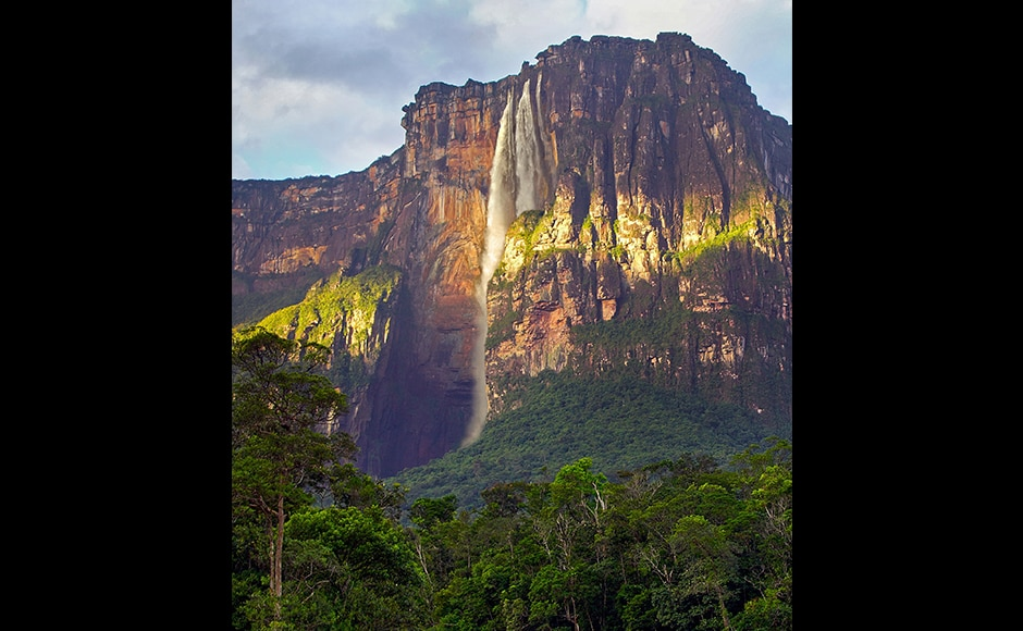 Angel Falls, Venezuela: When in 1933 the pilot James Angel flew over the Venezuelan jungle, he espied a river plunging over a mesa into a gorge. The plunge was so deep that the water was vaporized into a veil of mist. The waterfall today bears the American pilot's name and is considered to be the tallest in the world. It consists of several steps, the tallest one alone being 807 metres. In 2009, late Venezuelan President Hugo Chavez announced his aim to get the waterfall renamed