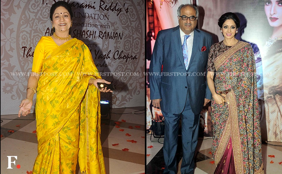 Aruna Irani also attended the event, as did Boney Kapoor and Sridevi. Other celebrity guests included Ranveer Singh, David Dhawan, Poonam Dhillon, Jaya Prada, Adnan Sami, Mohan babu and Gulshan Grover. Firstpost/Sachin Gokhale