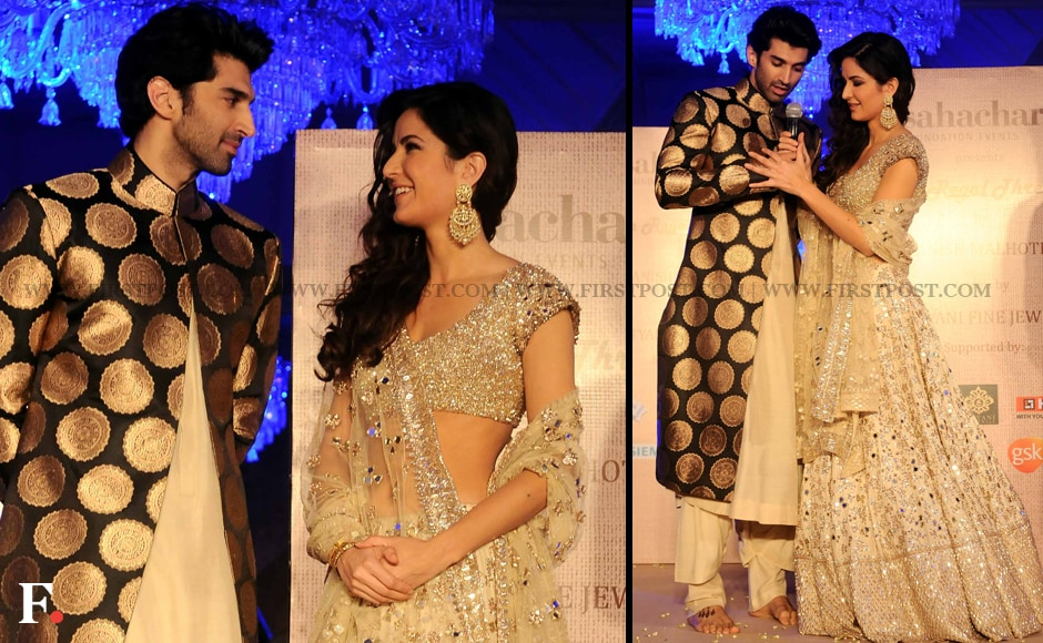 Aditya Roy Kapoor joined his Fitoor co-star Katrina Kaif on the ramp as the male showstopper of the fashion show. Sachin Gokhale/Firstpost